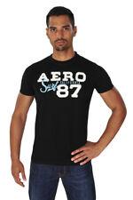 Aeropostale Camiseta Hombre S Negro algodón  Logo