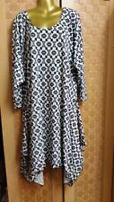 Plus Size 32 Gorgeous Asymmetric Hem Lagenlook Maxi Dress Fit Size 6XL