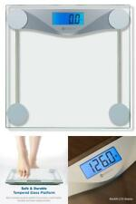 Digital Bathroom Body Weight Scale Electronic Lcd Display Tempered Glass 400lbs