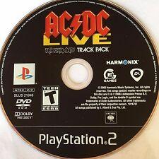 AC/DC Live RockBand Track Pack (PS2) NO CASE NO ART EXCELLENT CONDITION