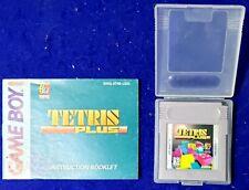 Tetris Plus with Manual & OEM Case Nintendo Game Boy GB Authentic