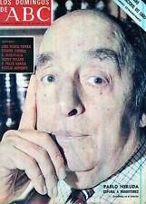 LOS DOMINGOS DE ABC 1972 Pablo Neruda Real Academia Española spanish magazine