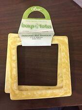 "Clover Bag Purse or Tote Designer Handles - Ivory Swirl 5"" x 5"" Square SALE!"