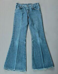 Vintage 70s /'Levi/'s for Gals/' Indigo Blue Denim Flares W30