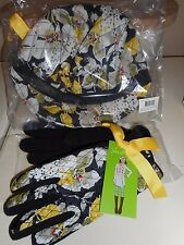 Vera Bradley set of 2 - News Girl Hat and gloves in Dogwood. (NWT)