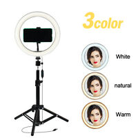 "10"" Selfie Ring Light with Tripod Stand&Phone Holder for Live Stream/Makeup Vlog"