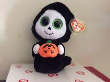 """Ty Beanie Boo TREATS the Ghost~Rare Pumpkin Error6"""" MWMT"""