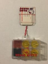 Vintage 1970s Sanrio Hello Kitty Rubber Stamp Ink Pad Name Cards Set Case