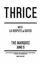 THRICE/LA DISPUTE/GATES 2016 PHOENIX CONCERT TOUR POSTER-Post-hardcore,Alt. Rock