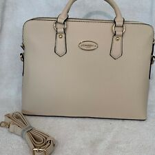 1f28f8f8997c Dasein Womens Handbag Tan Leather Satchel Briefcase Tote Shoulder iPad Bag  Purse