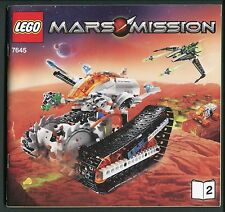 LEGO Mars Mission Instruction Manual (only) for Set 7645 Book 2