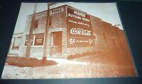 "COKE  COCA-COLA  VINTAGE 1920s  1930s  MIDWAY BOTTLING WORKS PHOTO  13"" x 11"""
