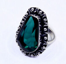 Spiritual Jewelry Faceted Apatite Quartz Handmade Jewelry Ring  Adjustable Up280