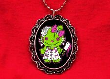 HELLO ZOMBIE KITTY CAT MEAT CLEAVER PENDANT NECKLACE