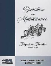 1948 1949 1950 1951 Ferguson TO 20 Owner Manual TO20 Operation Maintenance Book