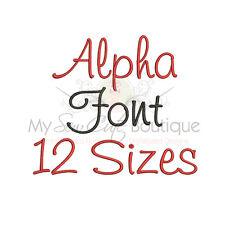 Alpha Alphabet Embroidery Fonts Machine Embroidery Design - IMPFCD52