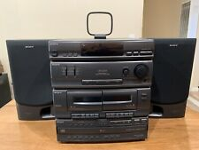 Sony Lbt-D250 Stereo Rack System Cassette 5 Disc Cd Changer (2) Ss-D255 Speakers