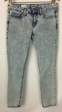 "Gap 1969 Always Skinny Light Acid Wash Ankle Crop Jeans Size 27 x 27"" Inseam"