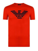 EMPORIO ARMANI MENS EAGLE LOGO T SHIRT SIZE SMALL BRAND NEW RED