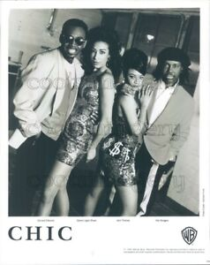1992 Press Photo Disco Funk Band Chic Nile Rodgers Bernard Edwards