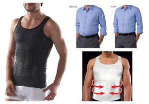 MEN SLIMMING BODY SHAPER BELLY TUMMY CONTROL COMPRESSION VEST *NEW*