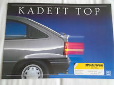 Opel Kadett Top brochure c1990's German text