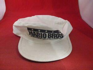 Super Mario Bros. The Movie Nintendo Promotional Snapback Hat White Cap 1993