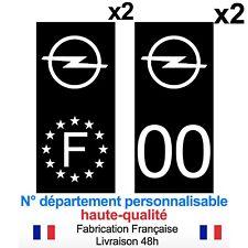 Stickers autocollant plaque d'immatriculation OPEL voiture Fond noir NOIR