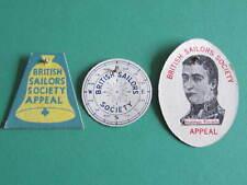 3 British Sailors Society Appeal Badges Matthew Flinders
