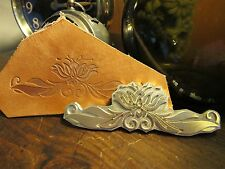 LOTUS Leather Bookbinding Finishing tool Stamp EMBOSSING biscuit die