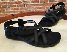 Merrell Black Leather & Textile Terrain Ari Lattice Comfort Sport Sandal NEW