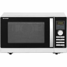 Sharp R-843SLM 25L 900W Double Grill Combination Microwave Oven in Silver