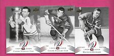 3 X  2008-09 UPD CANADIENS CENTENNIAL MAURICE RICHARD CARD (INV# C4238)
