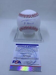 Trea Turner Signed Rawlings ROMLB Baseball PSA/DNA Los Angeles Dodgers