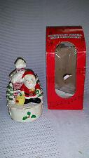 Vintage Lighted Musical (3 songs) Dancing Lights Santa in Box
