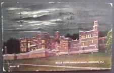 Belle Vista Castle At Night Paterson NJ 1912 Souvenir Post Card Co 63284