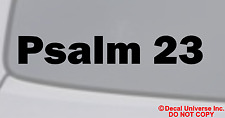 """PSALM 23"" Vinyl Decal Sticker Car Window Wall Bumper God Love Jesus Bible Quote"