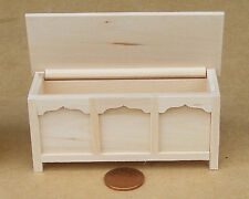 1:12 Scale Natural Finish Blanket Chest Trunk Tumdee Dolls House Accessory 022
