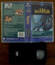 NIKITA Rare Roadshow VHS Video Widescreen Format Luc Besson, Anne Parillaud