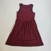 Jack Wills Navy & Red Stripe Casual City Cotton Dress Size 6 Elastic Waistband