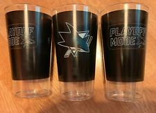 NHL San Jose Sharks Playoff Official Plastic Tumbler Drinking Glass 3 Pack