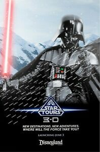 """Disney - Star Tours Darth Vader (11"""" x 17"""") Collector's Poster Print"""