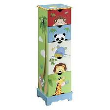 Fantasy Fields by Teamson Sunny Safari Childrens Bedroom Wooden Storage 5 Drawer