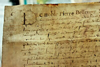 1639 post medieval DECORATED CAP manuscript parchment LORD READY TO FRAME