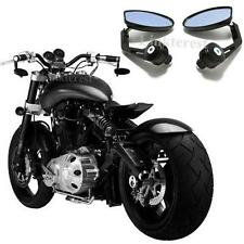 """Anti Glare Motorcycle 7/8"""" Handle Bar End Rearview Side Mirrors For Confederate"""
