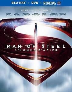 Man of Steel (Blu-ray/DVD, 2013, 2-Disc Set, Canadian)