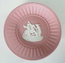 Wedgwood Round Pin Dish - Pink Jasperware