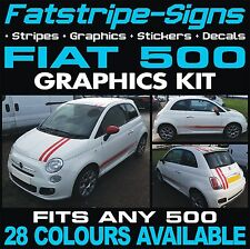 FIAT 500 GRAPHICS STRIPES VINYL STRIPES STICKERS DECALS KIT ABARTH 1.2 1.4 16V