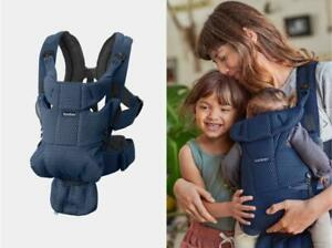 New~Babybjörn Baby Bjorn Baby Carrier Free Airy 3D Mesh~Navy