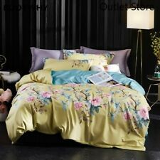 Luxury Chinoiserie Botanical Quilt Cover  4Pcs Egyptian Cotton Soft Bedding Set